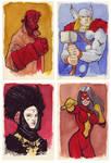 Watercolor Heroes by KellyYates