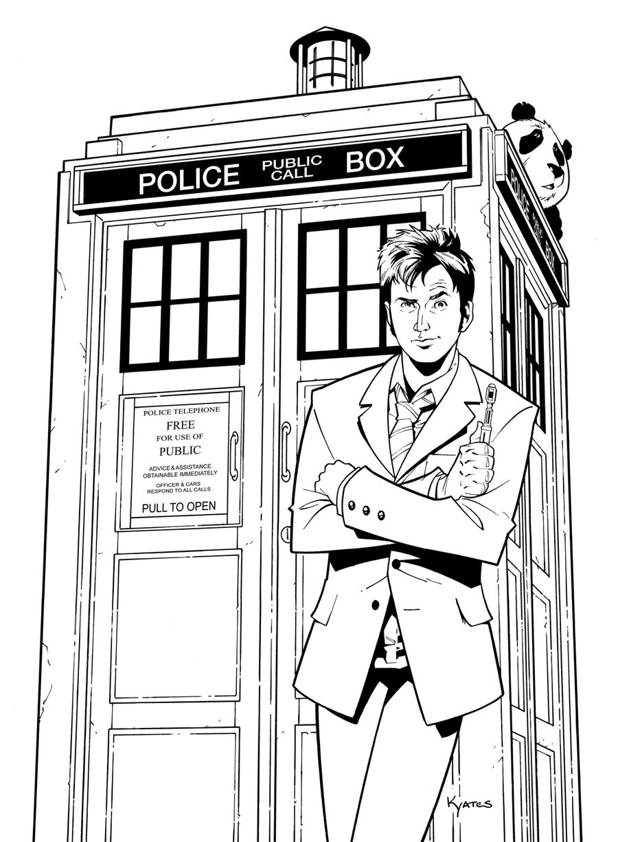 Doctor Who Coloring Page