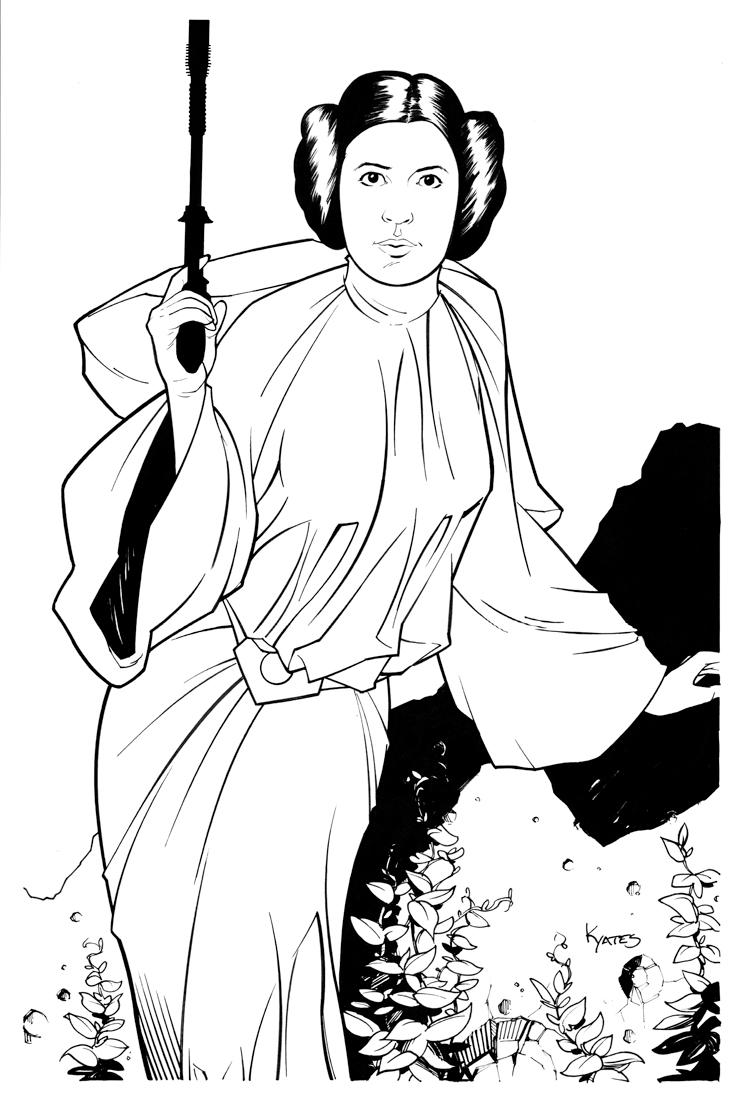 Princess leia coloring pages - Princess Leia By Kellyyates Princess Leia By Kellyyates