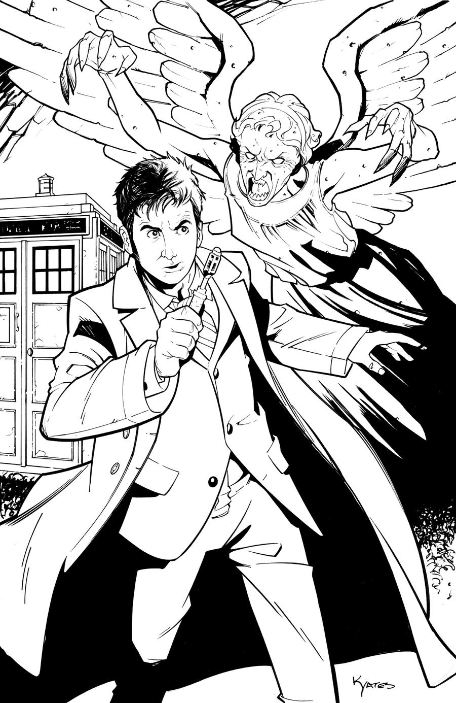 Weeping angel by kellyyates on deviantart for Doctor who coloring pages for adults