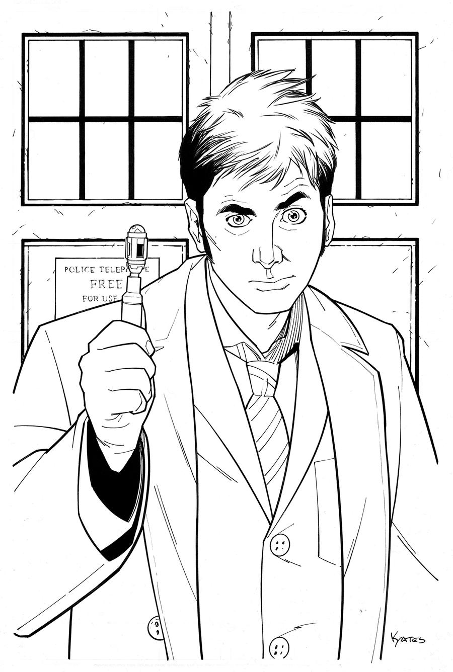 10th doctor who by kellyyates on deviantart for Dr who coloring pages