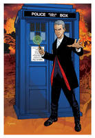 12th Doctor and TARDIS by KellyYates