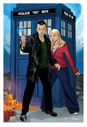 9th Doctor and Rose by KellyYates