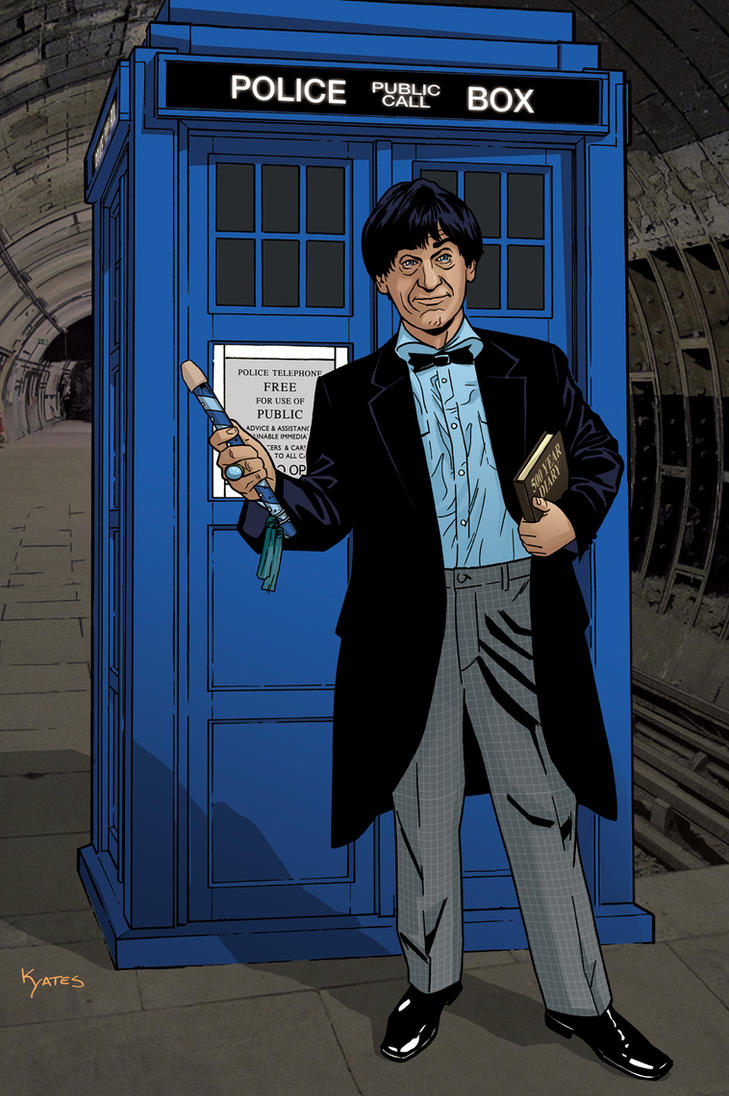 2nd doctor and tardis by kellyyates on deviantart