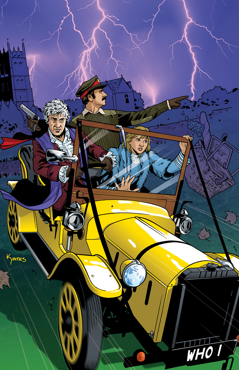 3rd Doctor and Bessie by KellyYates