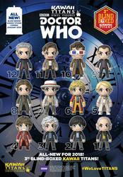 Doctor Who KAWAII TITANS by KellyYates
