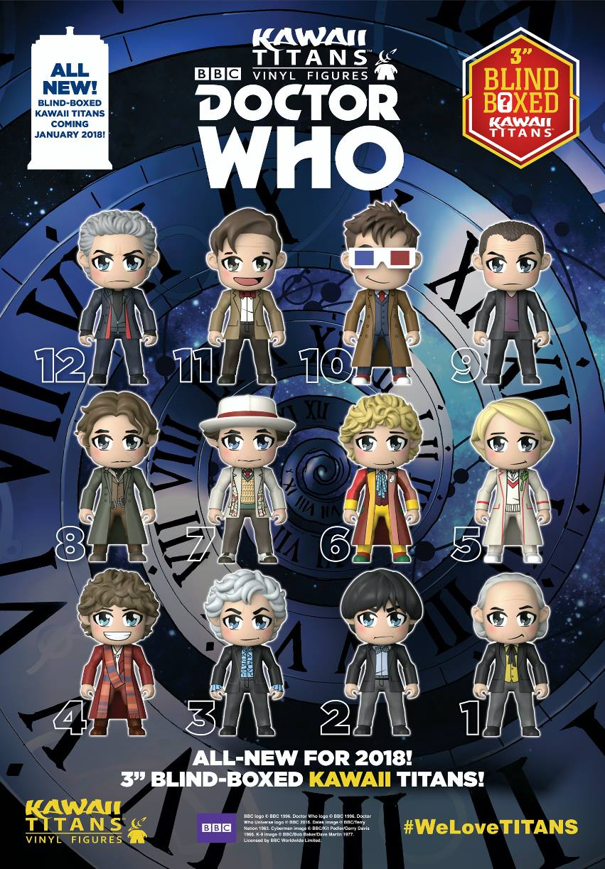 Doctor Who KAWAII TITANS by KellyYates
