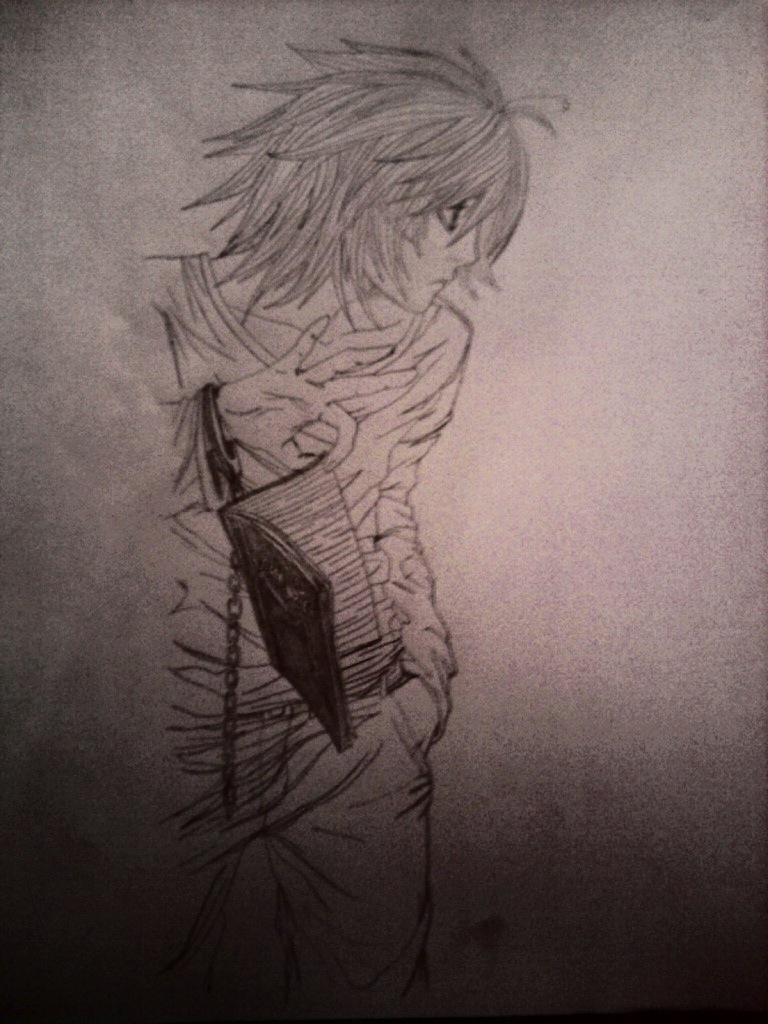 Death Note L Sketch by LCMorganTDA