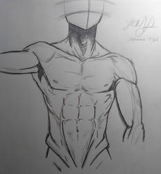 Upper Body Male Anatomy 1 by LCMorganTDA