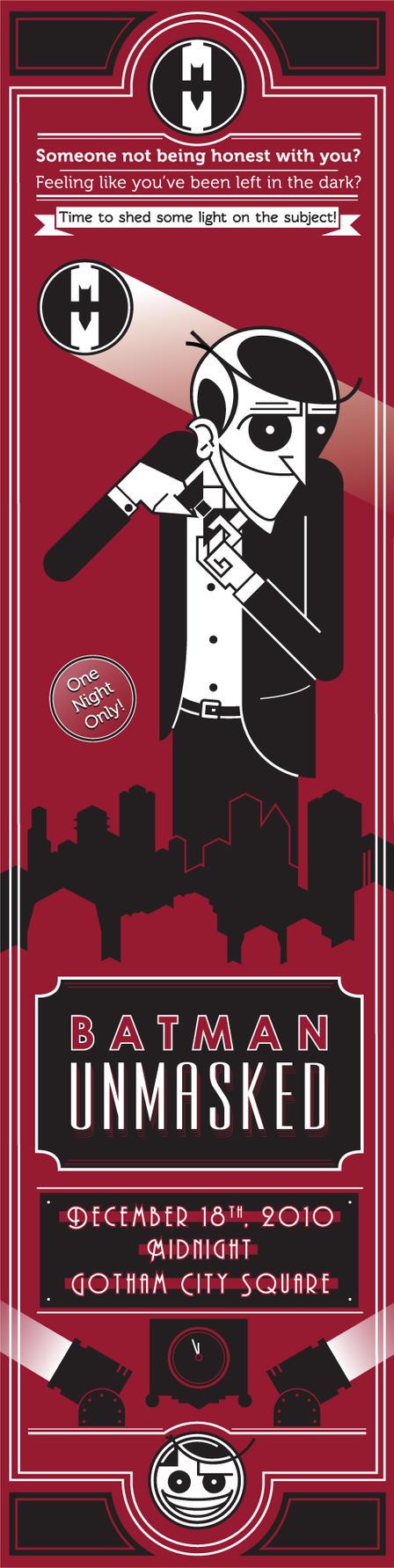 Batman Unmasked Joker Poster by BombtasticDynamo