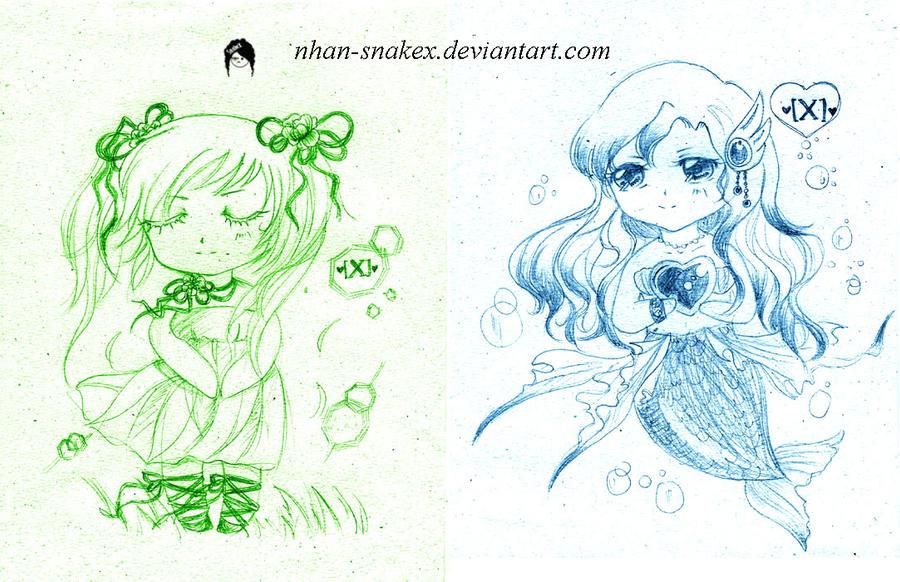 .:FS:. Chibi girls by Nhan-SnakeX