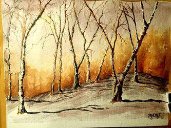 Birches by bunnyartofficial