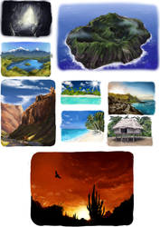 Landscape Speedpaint Collection