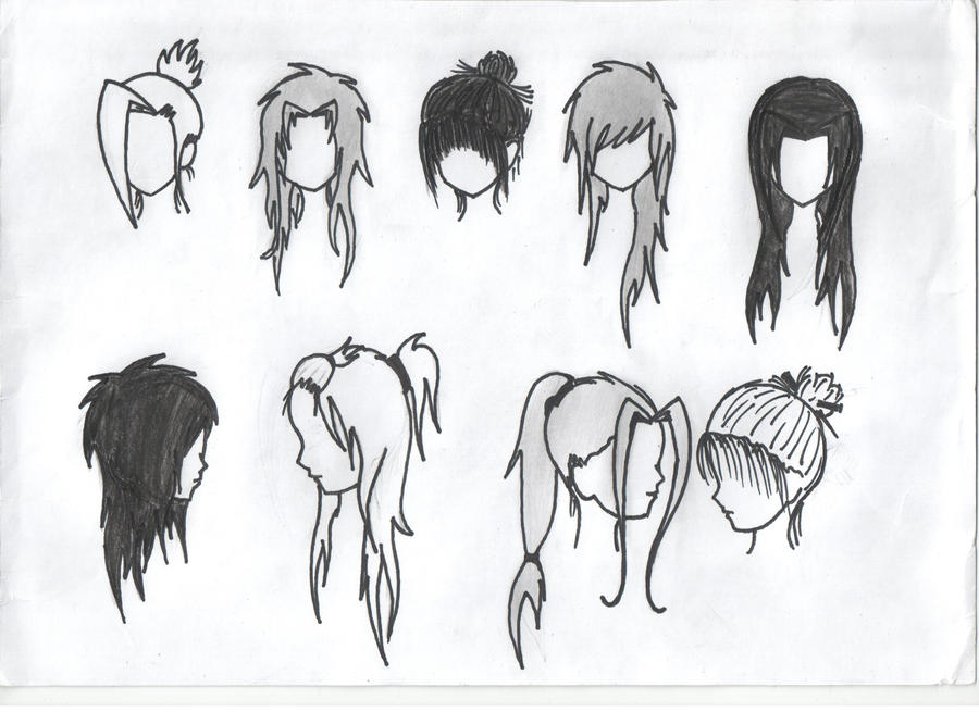 Anime girl hairstyles 2 by Random-idiot-XDAnime Girl Hairstyles Long