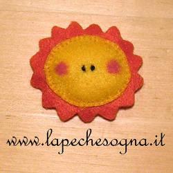 sun felt pin