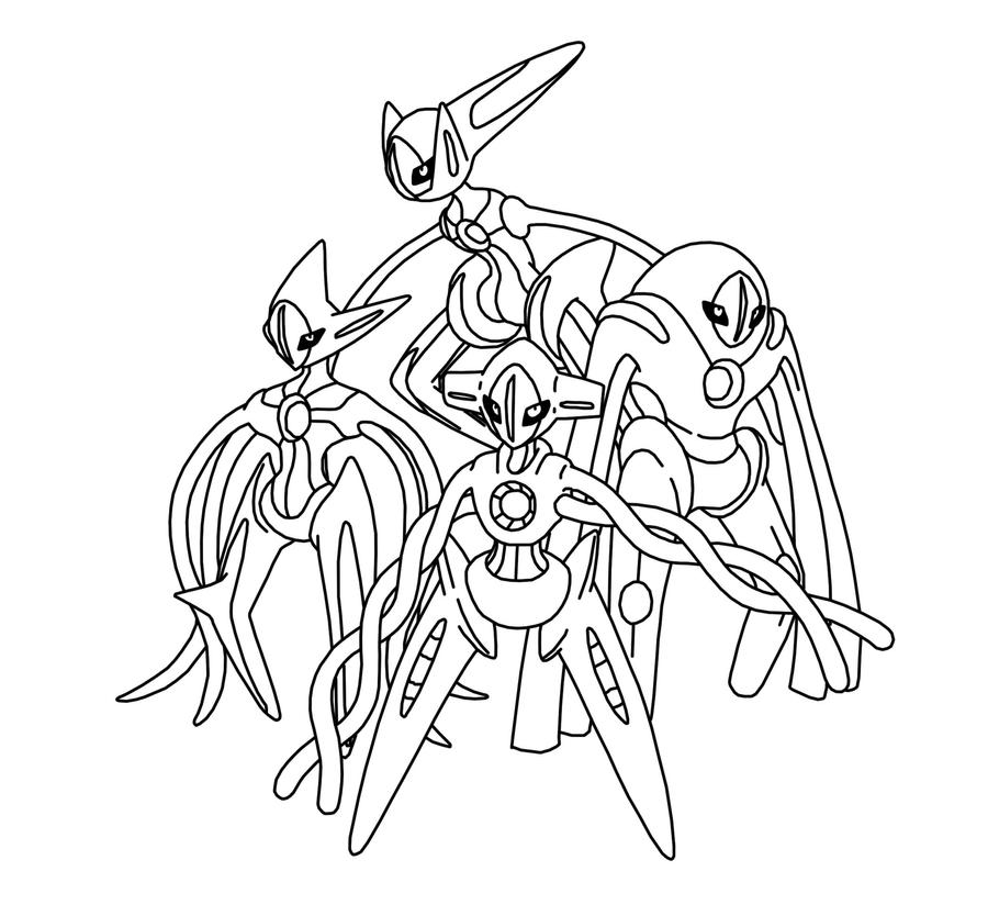 Pokemon coloring pages deoxys ~ Deoxys by I-grogan on DeviantArt