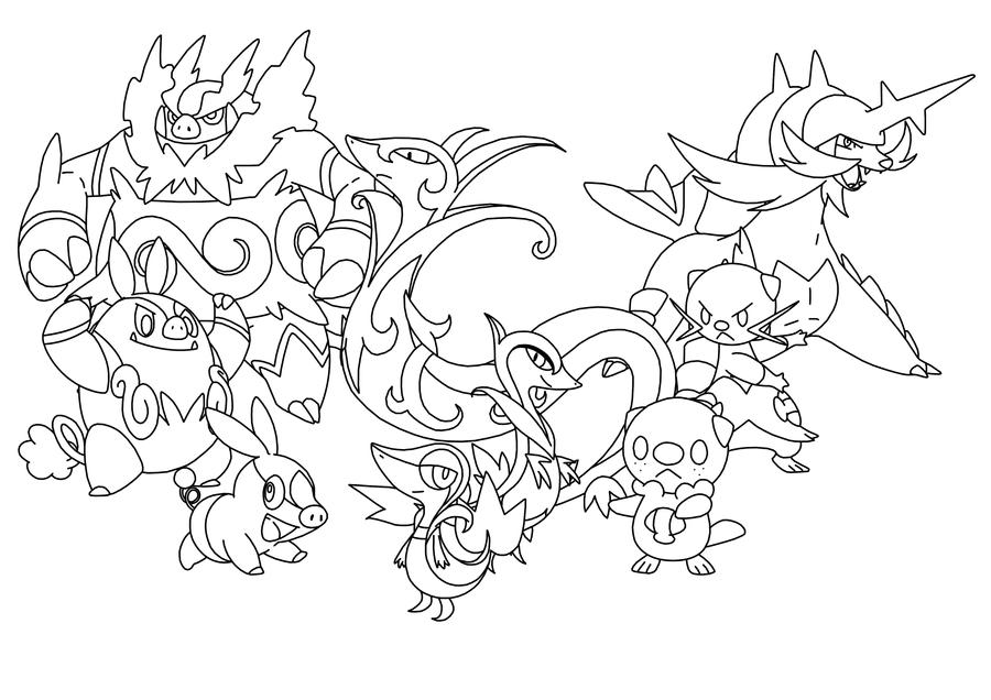 Starter Pokemon Coloring Pages Images