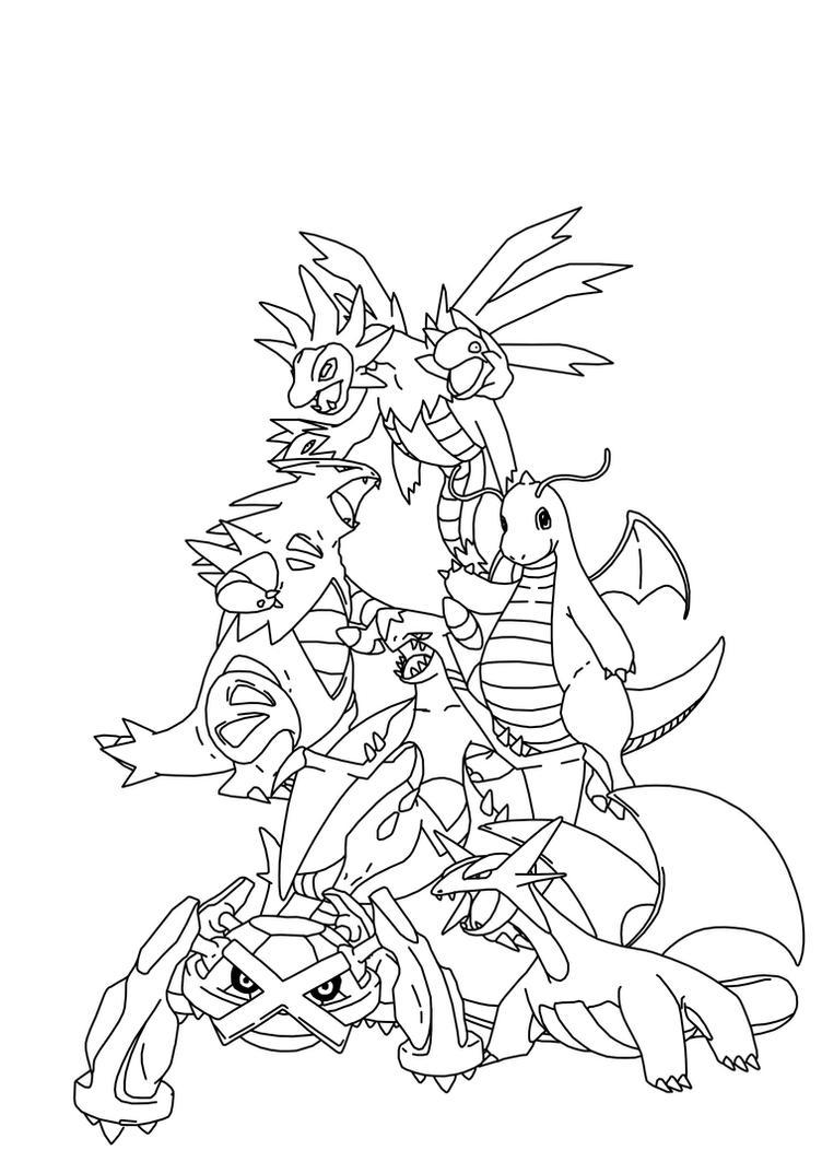 Pseudo legendary pokemon by i grogan on deviantart for Legendary pokemon coloring pages
