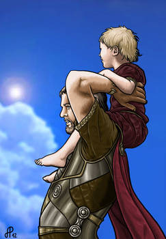 Odin and young Thor