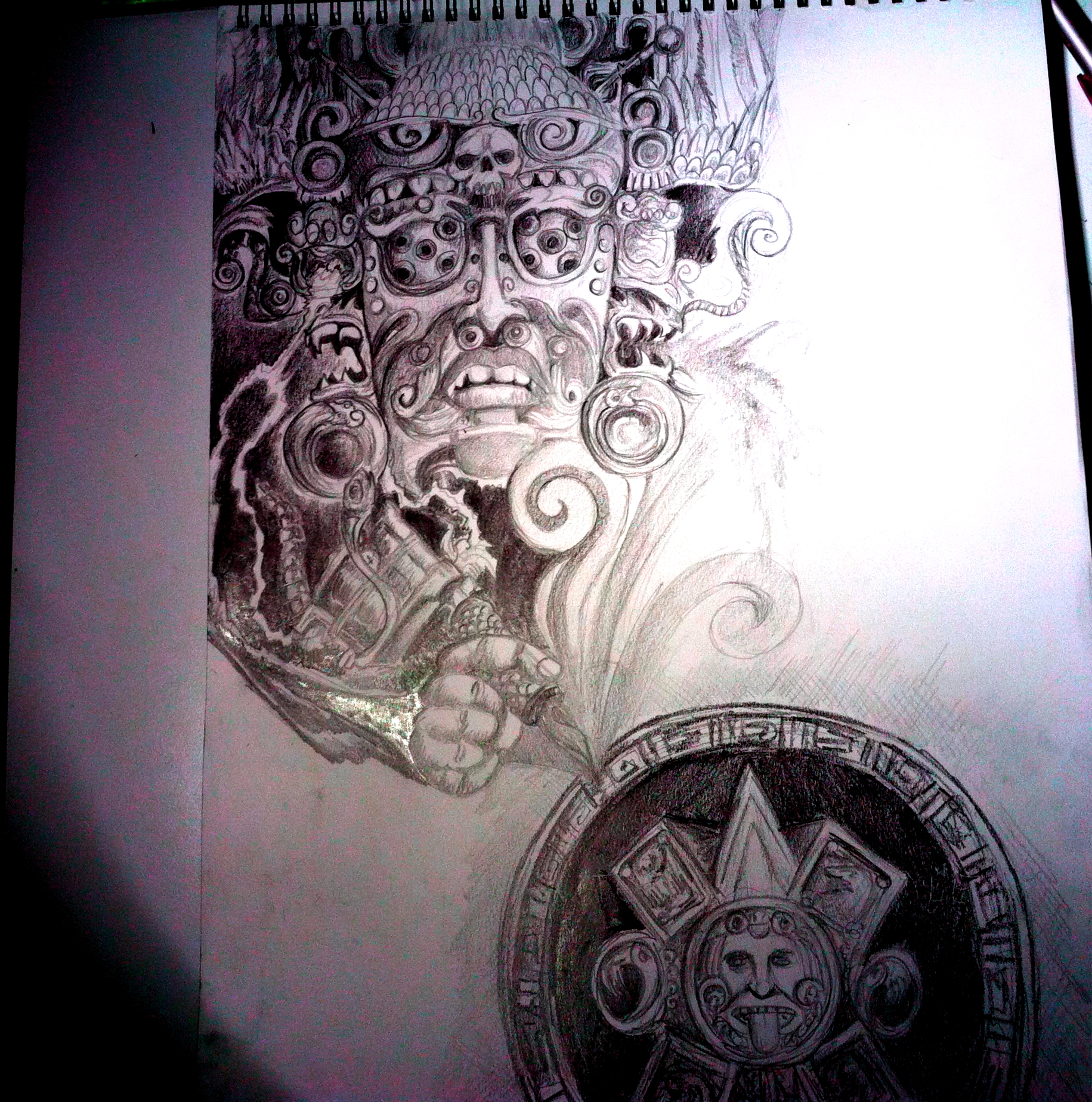 mayan tattoo design by simoloza on deviantart. Black Bedroom Furniture Sets. Home Design Ideas