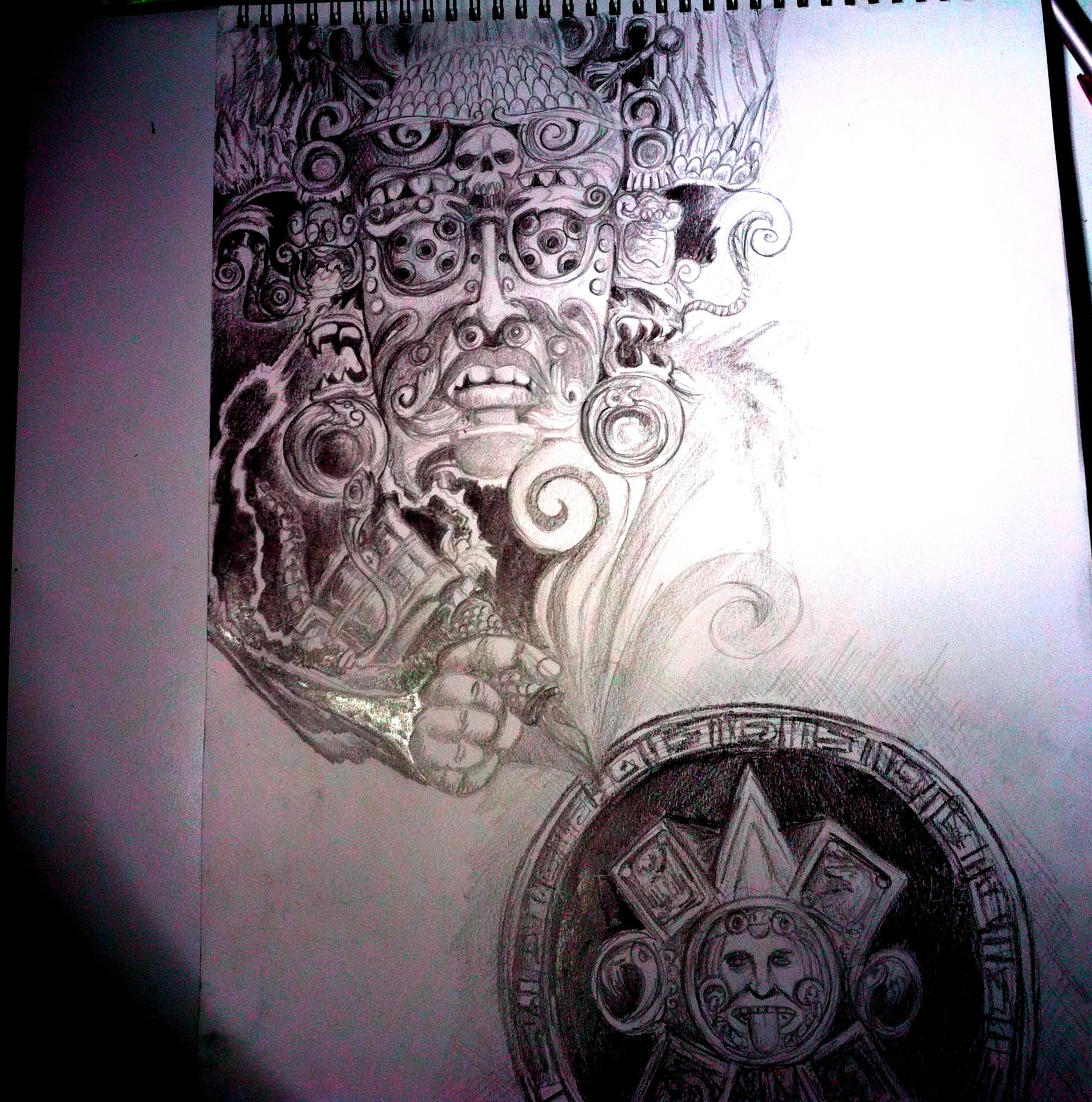 Mayan tattoo design by simoloza on deviantart for Mayan tattoos designs