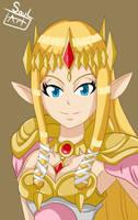 Princess Zelda Hyrule Warriors by SoulArt45