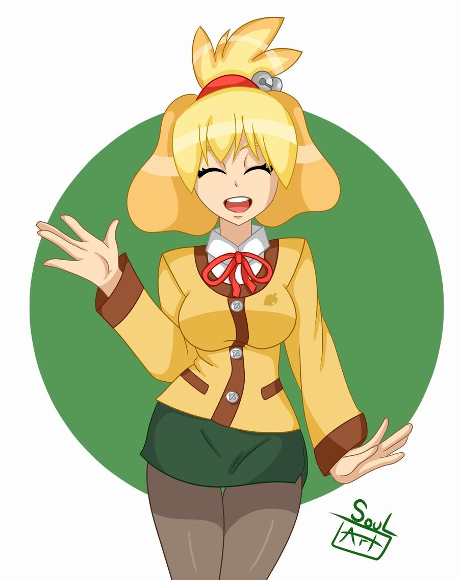 Isabelle -Animal Crossing- by SoulArt45 on DeviantArt