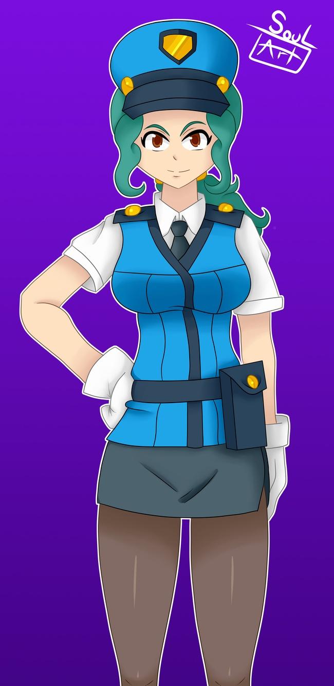 Officer Jenny Vector 01 (Original Vector) by Ubro on