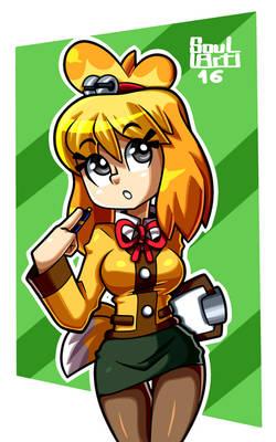 Sexy secretary Isabelle  -Animal Crossing-