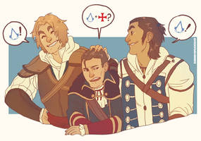 AC3- The Kenways by cherrysplice