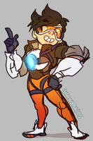 OVERWATCH: Lil Tracer by cherrysplice