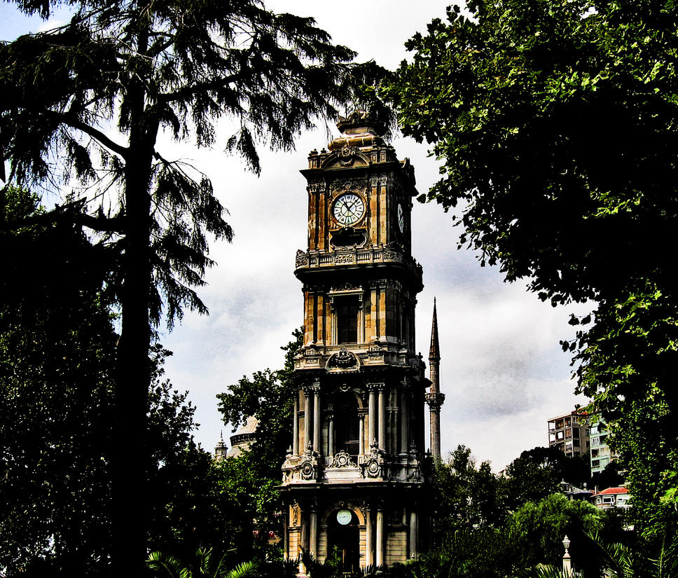 Dolmabahce Clock Tower by erdij on DeviantArt