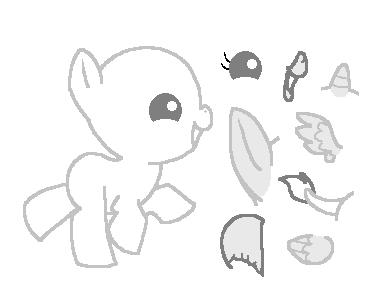 Baby Pony Base by oCrystal