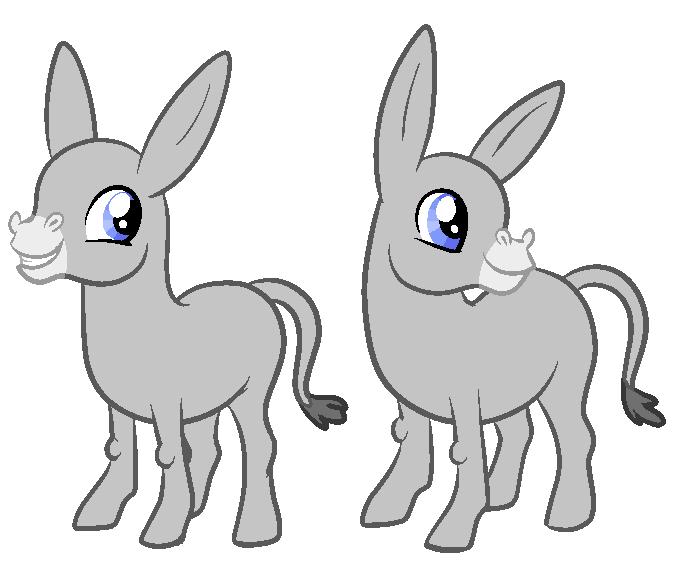 MLP FIM Donkey Base- by oCrystal