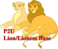 Laying Lion Male/Female Base: 200p by oCrystal