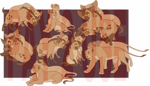 Hyenas and Lion Base- closed