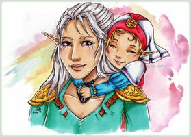 Nanny Impa. Zelda's childhood by cam-miyu