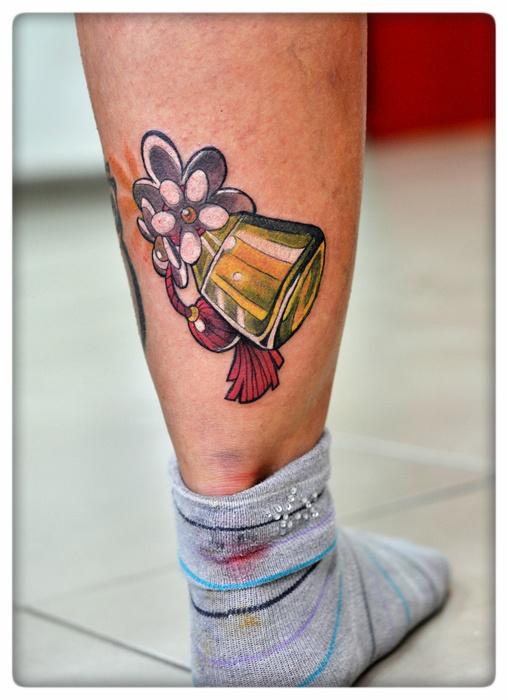Perfume bottle tattoo. by cam-miyu
