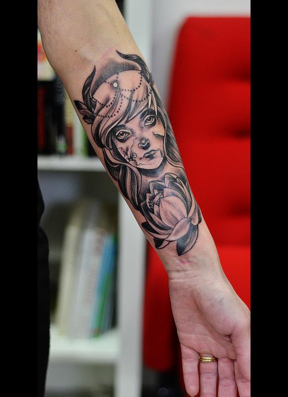 Broken doll Tattoo by cam-miyu