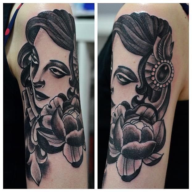 Pinup Tattoo by cam-miyu