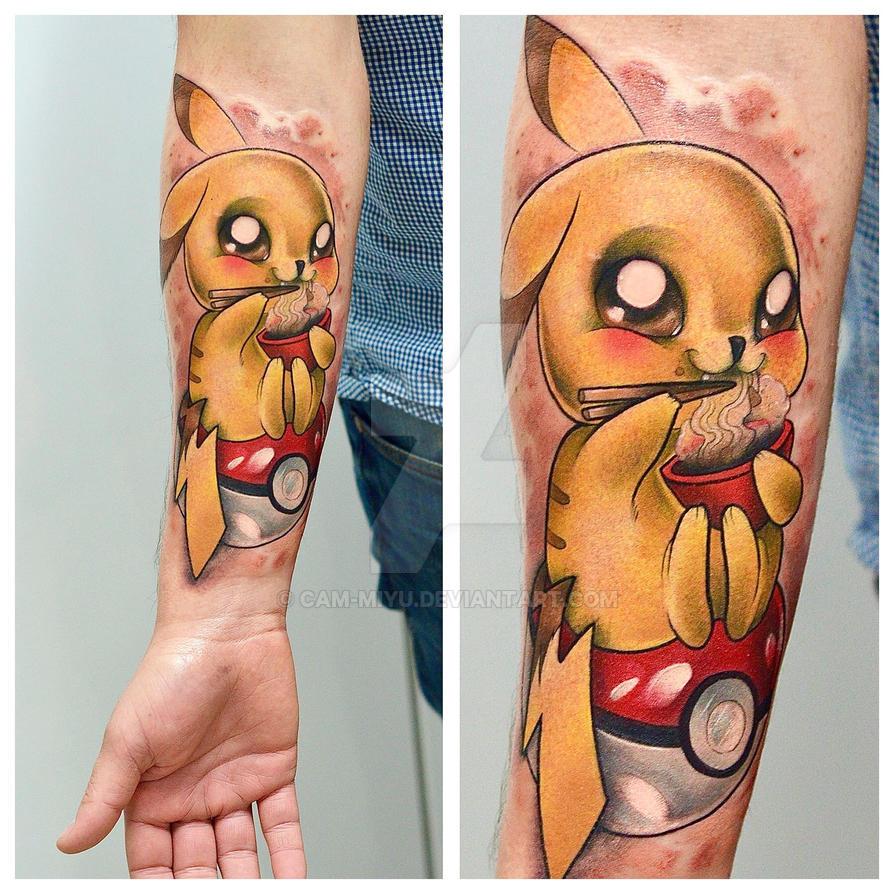 Pikachu tattoo by cam-miyu