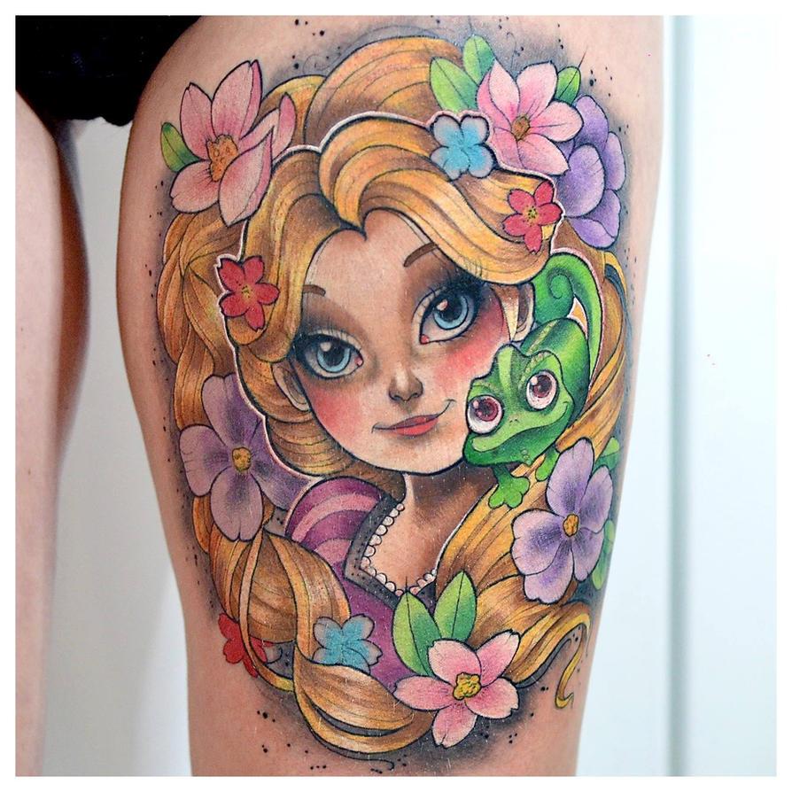 Rapunzel tattoo by cam-miyu