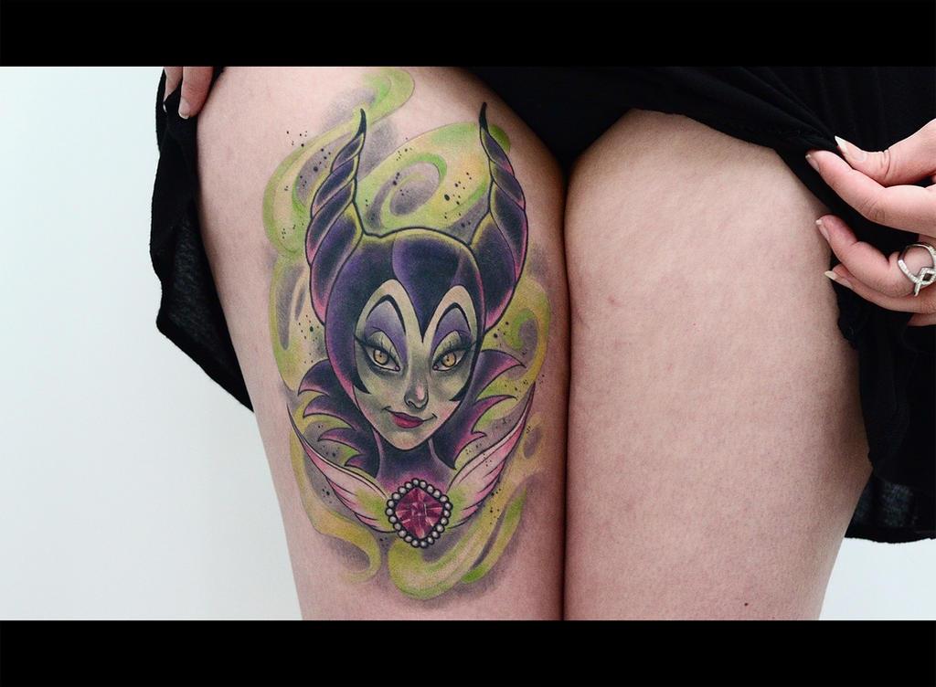 Maleficent tattoo by cam-miyu
