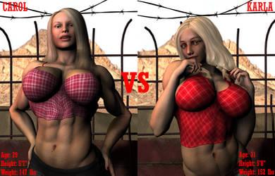 BlondeBrawl |Cage Match by raind86