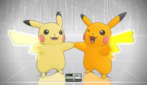 MMD Pokemon Pikachu (3DS) DL by Jakkaeront
