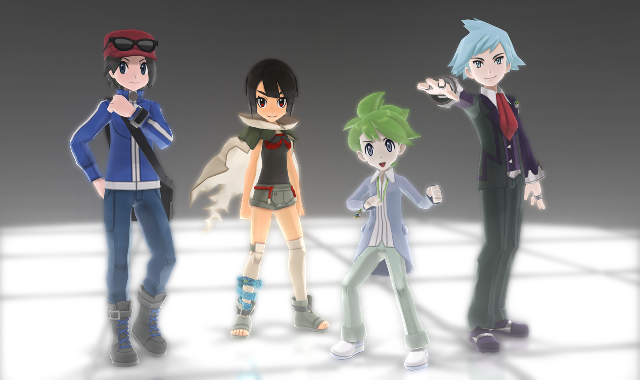 Anime Characters For Gmod : Mmd pokemon protagonists dl off by jakkaeront on deviantart