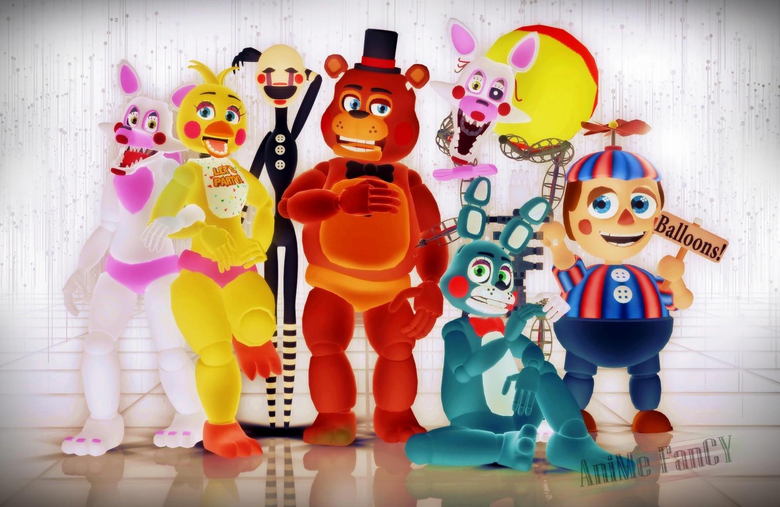Five nights at mmd 2 by jakkaeront on deviantart
