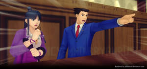 Objection! -Ace Attorney MMD- by Jakkaeront