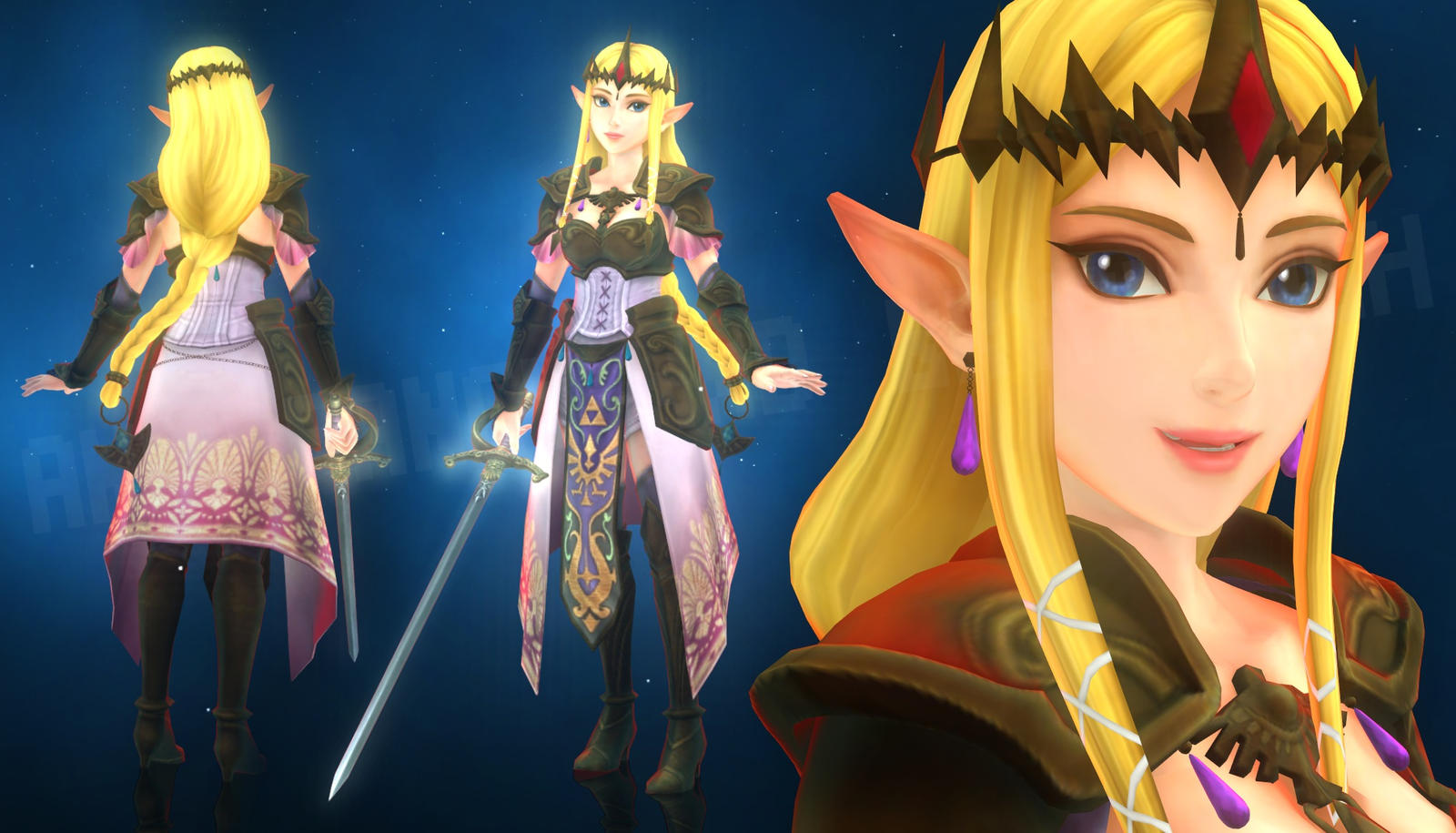 Zelda - Hyrule Warriors (MMD Render Test)