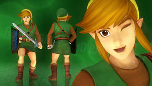 Classic Link - Hyrule Warriors (MMD Render Test)